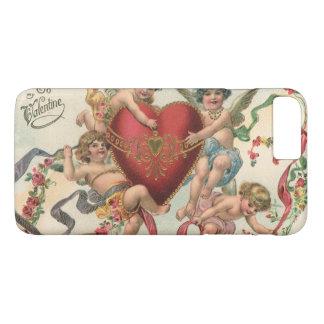 Vintage Victorian Valentines, Cherubs Angels Heart iPhone 8 Plus/7 Plus Case