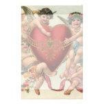 Vintage Victorian Valentines, Cherubs Angels Heart Stationery Paper