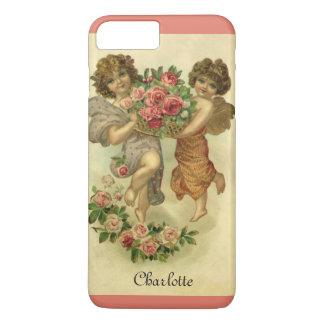 Vintage Victorian Valentine's Day, Angels Roses iPhone 8 Plus/7 Plus Case