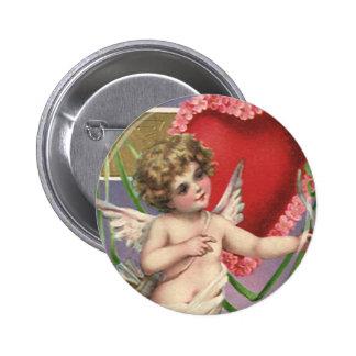 Vintage Victorian Valentine's Day; Be My Valentine Pinback Buttons
