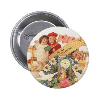 Vintage Victorian Valentine's Day, Child Flowers Pins