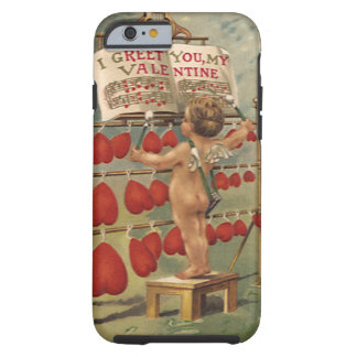 Vintage Victorian Valentines Day, Cupid and Hearts Tough iPhone 6 Case