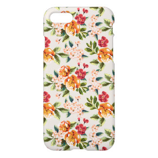 Vintage Victorian Watercolor Floral Pattern iPhone 8/7 Case