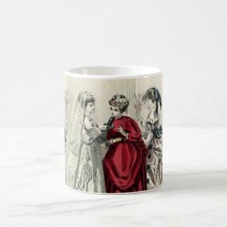 Vintage Victorian Wedding Bride Bridesmaid Bridal Basic White Mug