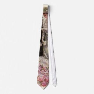 Vintage Victorian Wedding Ceremony Bride and Groom Tie