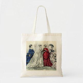 Vintage Victorian Wedding Party Bridal Portrait Tote Bag