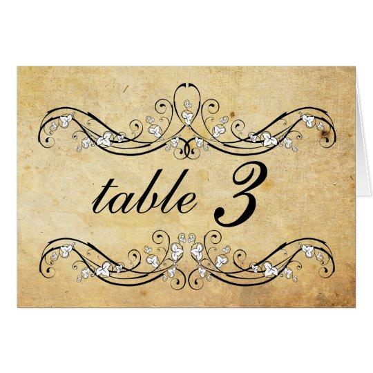 Vintage Victorian Wedding Table Number