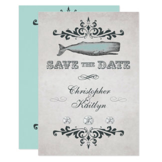 Vintage Victorian Whale Beach Save the Date Invite