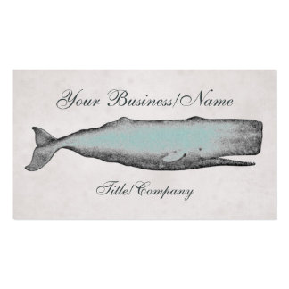 Vintage Victorian Whale Pack Of Standard Business Cards