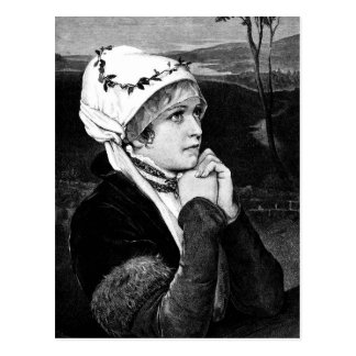 Vintage Victorian Woman Image Postcard