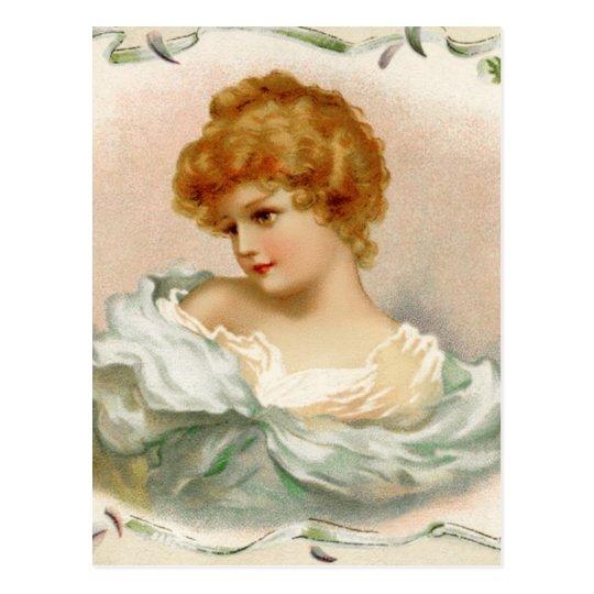 Vintage Victorian Woman Postcard