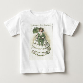Vintage Victorian Woman St Patrick's Day Card Tee Shirts