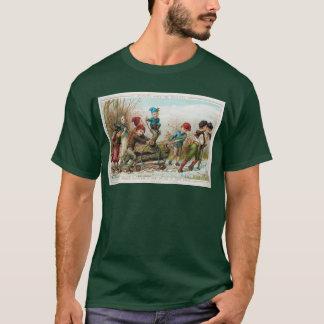Vintage Victorian Yule Log Christmas Men's T-Shirt