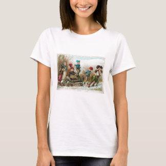 Vintage Victorian Yule Log Womens T-Shirt