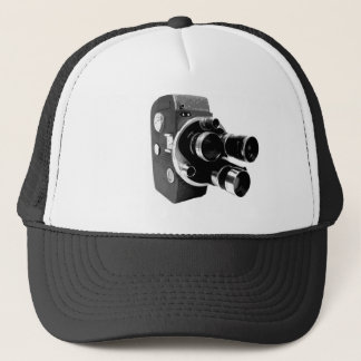 vintage video camera trucker hat