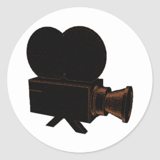 Vintage Video Classic Round Sticker