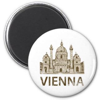 Vintage Vienna 6 Cm Round Magnet