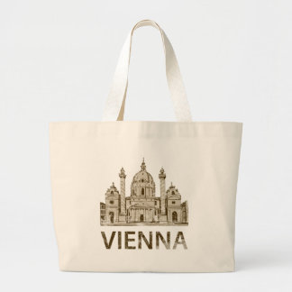 Vintage Vienna Large Tote Bag