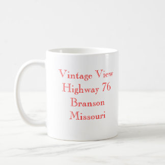 Vintage View Branson Missouri Basic White Mug