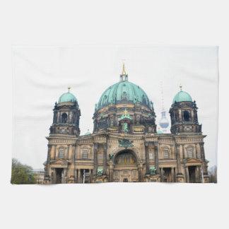 Vintage view of Berlin Cathedral (Berliner Dom) Tea Towel