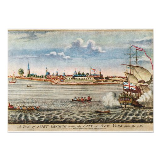 Vintage View of Ft. George with New York City Custom Invite