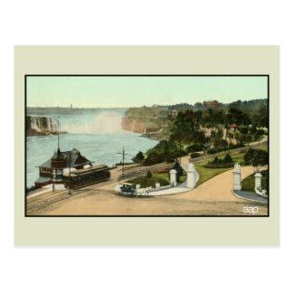 Vintage view Victoria Park Niagara Falls streetcar Postcard