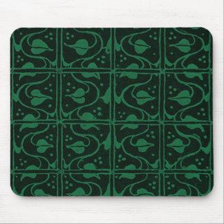 Vintage Vines Dark Green Mouse Pad