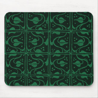 Vintage Vines Dark Green Mouse Pads