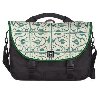 Vintage Vines Green Black Laptop Commuter Bag
