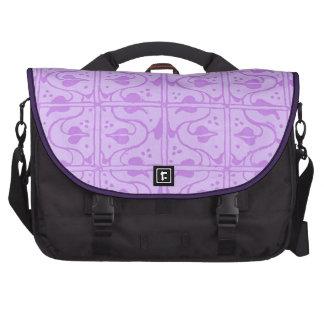 Vintage Vines Purple Black Laptop Commuter Bag