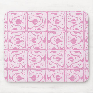 Vintage Vines White Pink Mouse Pad