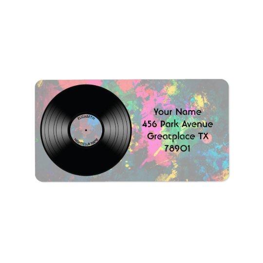 Vintage Vinyl Music Record Nightclub Or Dance Fan Label