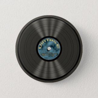 Vintage Vinyl Record Button