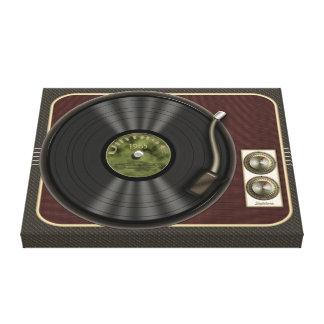 Vintage Vinyl Record Player Canvas Wrap Stretched Canvas Prints