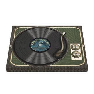 Vintage Vinyl Record Player Canvas Wrap Gallery Wrap Canvas