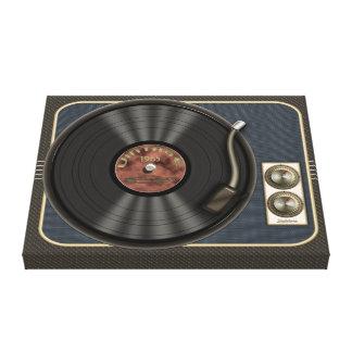 Vintage Vinyl Record Player Canvas Wrap Canvas Prints