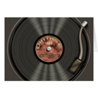Vintage Vinyl Record (red) Greeting Card