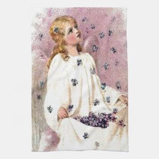 Vintage Violet Angel Kitchen Towel
