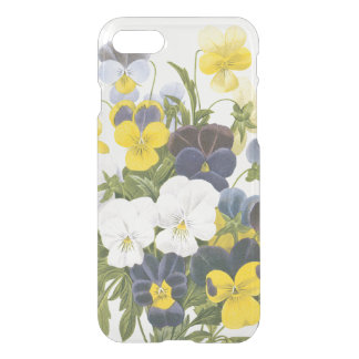 Vintage Violets and Pansy Floral Clear iPhone Case