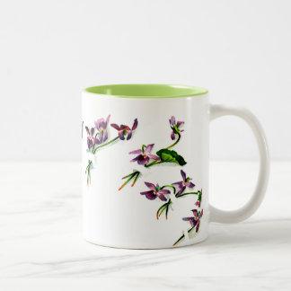 Vintage Violets Two-Tone Coffee Mug