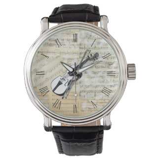 Vintage Violin Music Watch