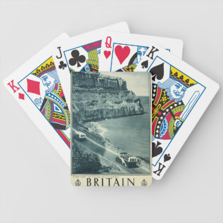 Vintage Visit Britain Tourism Poster Bicycle Playing Cards