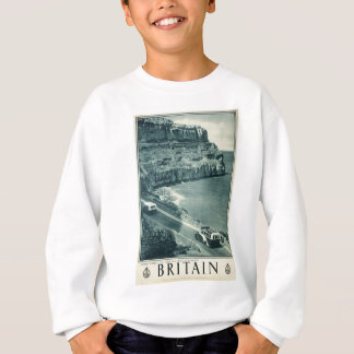 Vintage Visit Britain Tourism Poster Sweatshirt