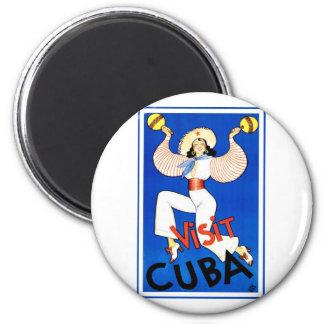 Vintage Visit Cuba Refrigerator Magnet