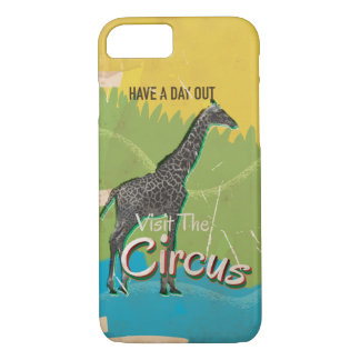 Vintage Visit the circus Poster art iPhone 7 Case