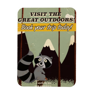 Vintage Visit the Great outdoors vacation poster Rectangular Photo Magnet