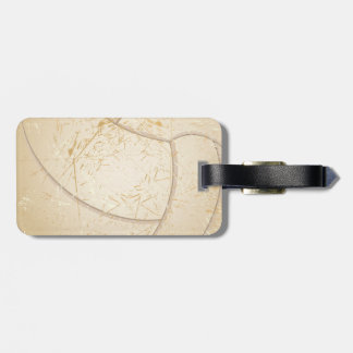 vintage volleyball luggage tag