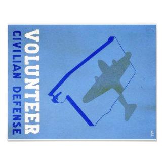 Vintage Volunteer Civillian Defense WPA Poster Photographic Print