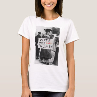 """Vintage """"Vote For A Nasty Woman"""" Pro-Hillary T-Shirt"""