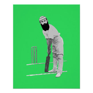 vintage W G Grace Cricketer Poster